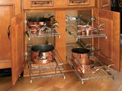 Double Pull-Out Chrome Baskets