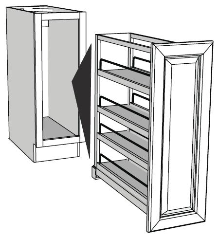 Pull out base cabinet organizers full insert rta cabinet store Bathroom cabinet organizers pull out