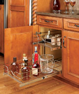 Single Pull Out Chrome Baskets Rta Cabinet Store