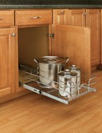 Single Pull-Out Chrome Baskets