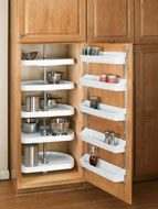 D-Shaped Polymer Pantry Cabinet Shelves