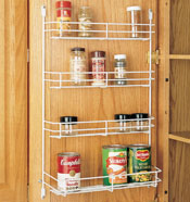 Wire Mesh Door Mounted Spice Racks