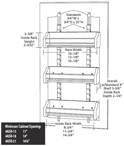 Marvelous Adjustable Door Mount Wood Spice Rack Specs
