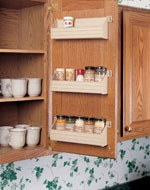 Door Mount Polymer Spice Racks