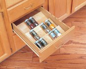 Wooden Spice Drawer Insert