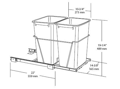 ... Double Pull Out Waste Container Specs2