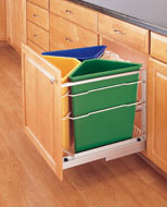 Pull-Out Recycling Center- Color Containers