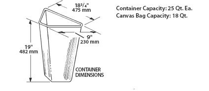 Pull-Out recycling center container specs