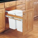 Double 35 Qt. Top Door Mount Pull-Out Waste Containers