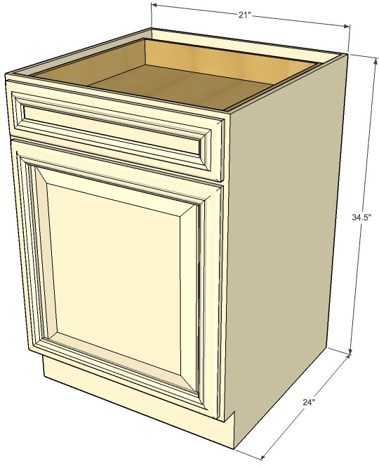 Adirondack White Single Door Base Cabinets Rta Cabinet Store photo - 5