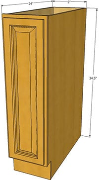 Honey Maple Single Door Base RTA Cabinets