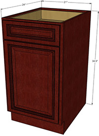 Cherryville Single Door Base RTA Cabinet
