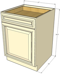 Tuscany Single Door Base RTA Cabinet