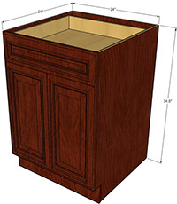 Brandywine Double Door Base RTA Cabinet