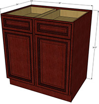 Cherryville Double Door Base RTA Cabinet