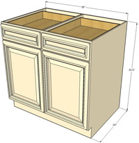 Tuscany Double Door Base RTA Cabinet