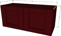"Bordeaux Shaker Double Door Wall Cabinet 18""H x 36""W"