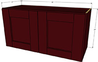 "Bordeaux Shaker Double Door Wall Cabinet 24""H x 36""W"