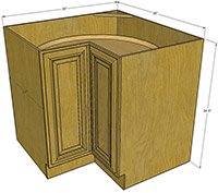 Premier Oak Other Base RTA Cabinet