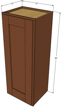 Sienna Shaker Single Door Wall RTA Cabinet