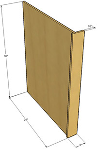 How To Install Kitchen Cabinet End Panels Bar Cabinet