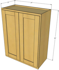 Natural Shaker Double Door Wall Cabinet
