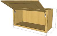 Natural Shaker Horizontal RTA Wall Cabinets