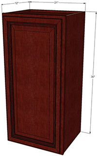 Cherryville Single Door Wall RTA Cabinet