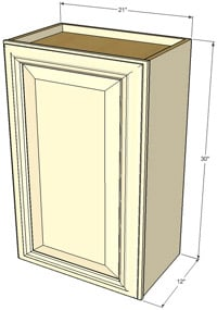 Tuscany Single Door Wall RTA Cabinet