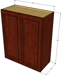 Beaumont Collection Double Door Wall Cabinet