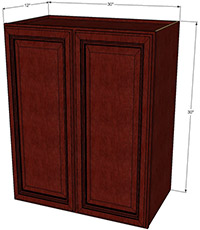 Cherryville Double Door Wall RTA Cabinet