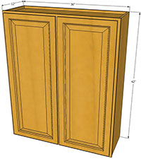Richmond Double Door Cabinet 36 W X 42 H RTA Kitchen Cabinets