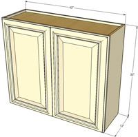 Tuscany Double Door Wall RTA Cabinet