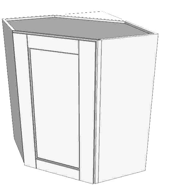 Stone Grey Shaker Other Wall Cabinet