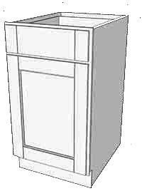 Frosted White Shaker Single Door Base Cabinet