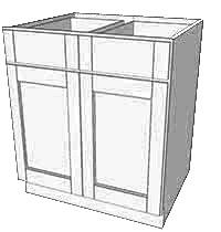Cognac Shaker Double Door Base Cabinet
