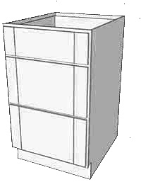 Vanilla Shaker Drawer Base RTA Cabinet
