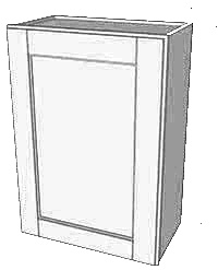 Vanilla Shaker Single Door Wall RTA Cabinet