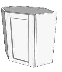 Frosted White Shaker Other Wall Cabinet