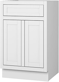 Adirondack White Single Door Base Cabinet