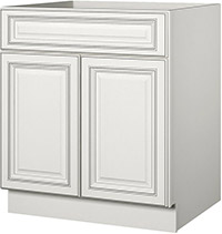Coastal Ivory Sink Base Cabinet