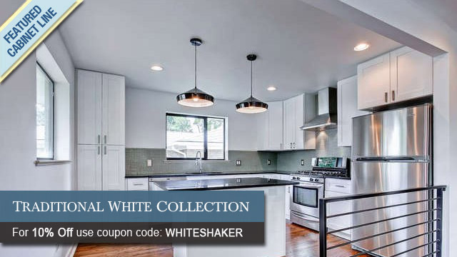 Traditional White Shaker Featured Cabinet Collection