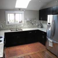 Bright kitchen with our RTA Mocha cabinets