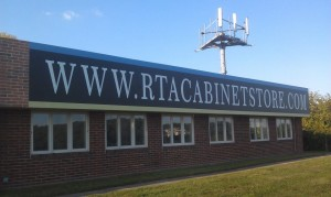 new sign for our new location- www.rtacabinetstore.com
