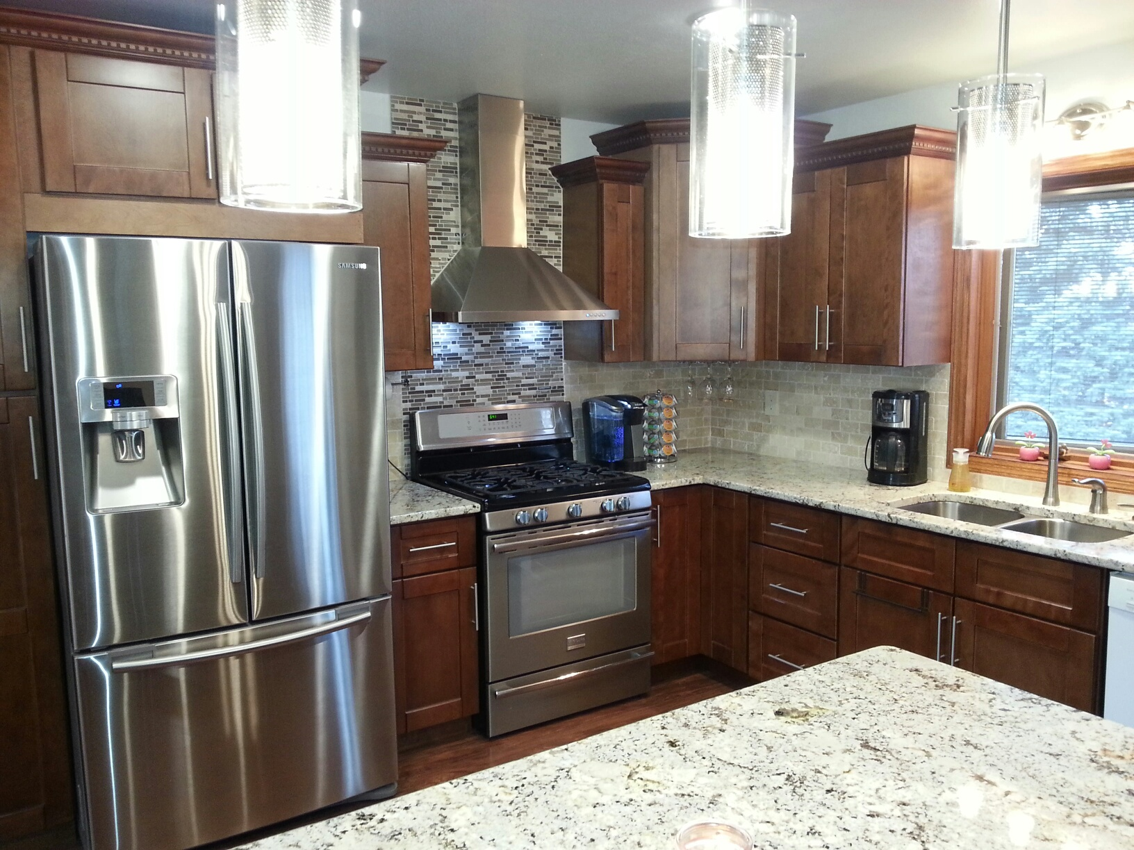 sienna shaker kitchen makeover a kitchen remodel for under 10 000 rta kitchen cabinets