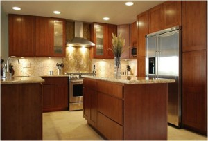 Shaker Kitchen Cabinets- Carbonized Bamboo