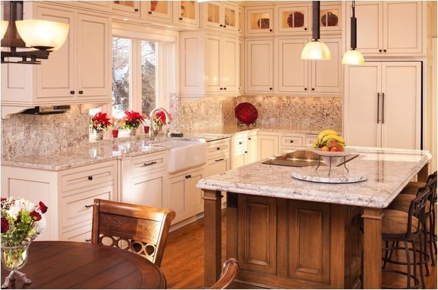 Glass Doors Above Regular Cabinets Rta Kitchen Cabinets
